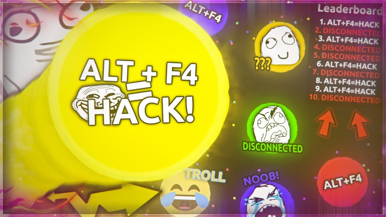 """Alt F4 Alt F4 the biggest troll ever made ( changing all gaver players name to """"alt+f4 =  hack"""")"""
