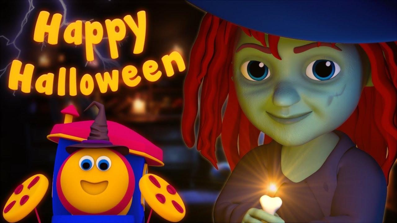 Halloween Song   Bob The Train   Scary Kindergarten Nursery Rhymes ...