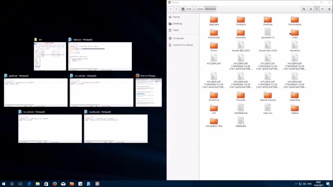 Windows Subsystem For Linux (WSL) Integrieren von GUI Anwendungen in  Windows 10