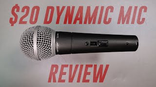 Behringer Dynamic Microphone (SL 85S) Review / Test (Compared to XM8500, BA85A, SM58)