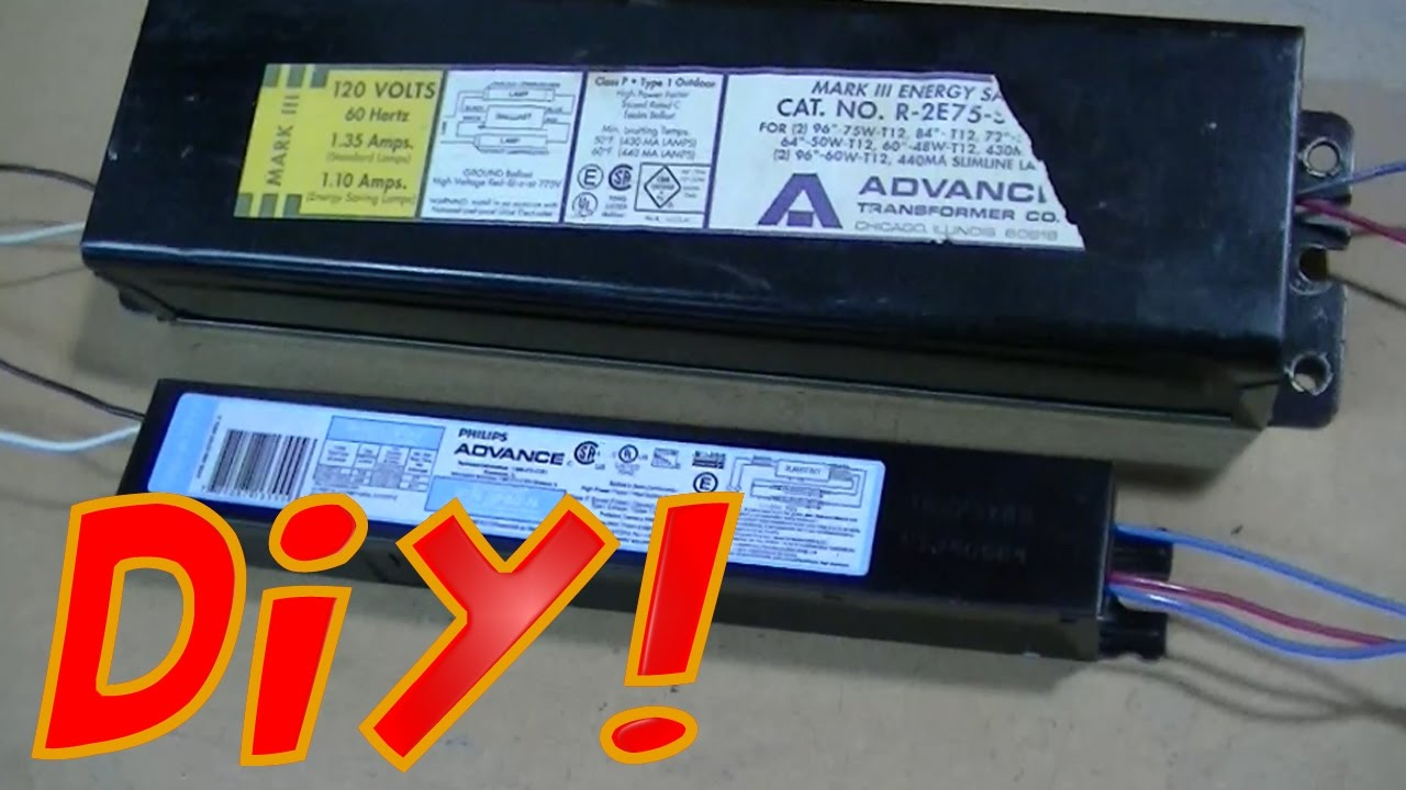 Replacing the Ballast on a Fluorescent Light Fixture DIY  YouTube