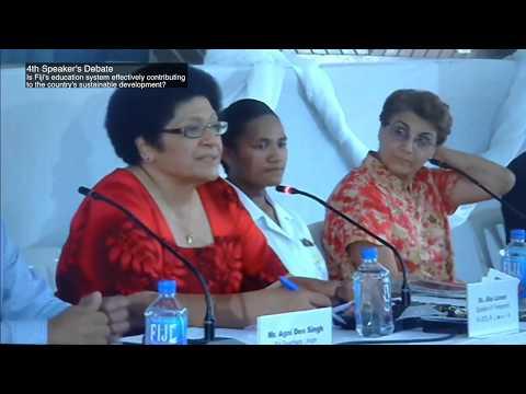 4th Speaker's Debate - Is Fiji's education system effectively ...