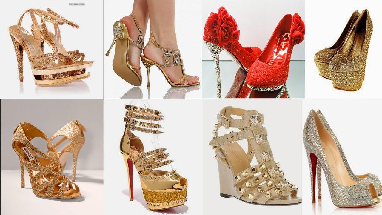 Gold Colour Bridal Sandals Design