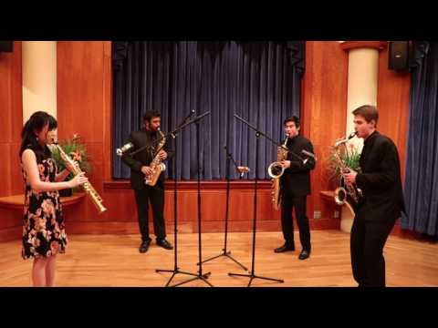 Iizuna Quartet - Elliot Del Borgo: Quartet for Saxophones Movement III