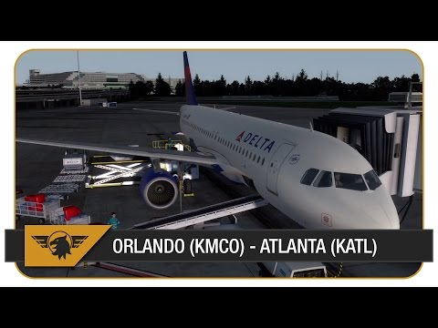 [Prepar3D] Welcome on board... DAL1518 | Orlando (KMCO) - Atlanta (KATL) | P3D | Aerosoft A320
