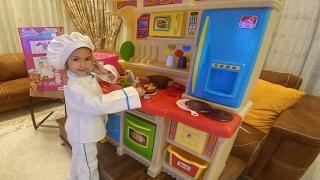 Elife büyük mutfak,ocaklı fırınlı  eğlenceli çocuk videosu, toys unboxing