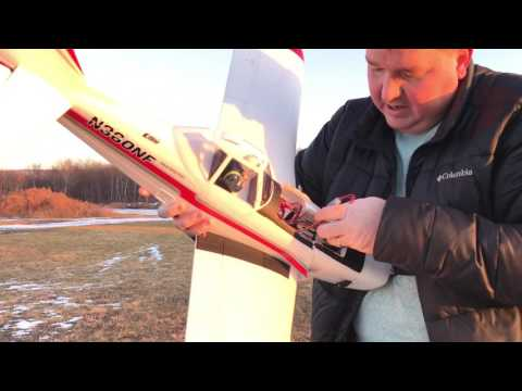 E-Flite Pawnee Brave Night Flyer Review, Maiden, and First Bad Crash of the New Year!