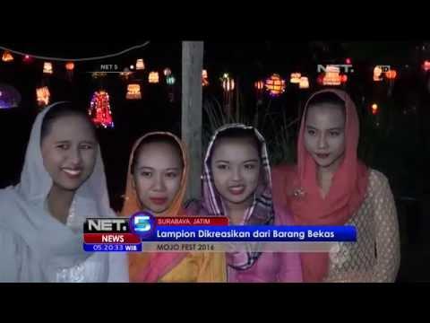 Ratusan Lampion Hiasi Sungai Kalidami - NET5