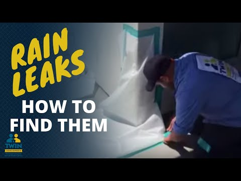 How to find a water leak in a wall or  rain water leaking into your  house