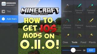BEST IOS MCPE 0.11.0 MOD! - Minecraft PE (Pocket Edition) (No Computer) TMI, Sprint, Record, & MORE!
