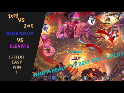 May Elevate Beat Blue Army ? | Blue Army VS Elevate | Mammoth POV | Albion Online ZvZ
