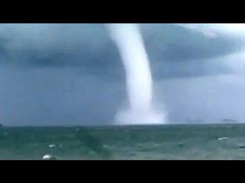 rare waterspout off australia youtube