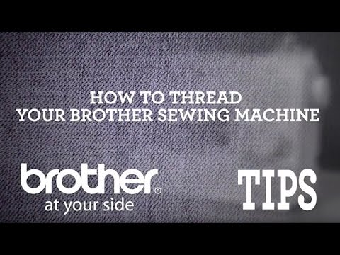 Brother Video Tip How To Thread A Brother Sewing Machine YouTube New Brother Xr3140 Sewing Machine
