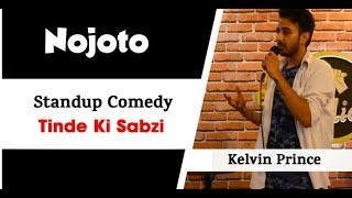 New Indian Stand Up comedy on Food by Kelvin at Open Mic  | Hindi Funny Comedy Video on Vegetables