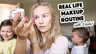 Real Life Makeup Routine | 3 Kids