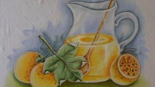 Maracujá – Pintura em Tecido -com Adilson G. Amaral