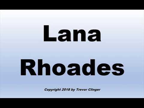 How To Pronounce Lana Rhoades - 동영상
