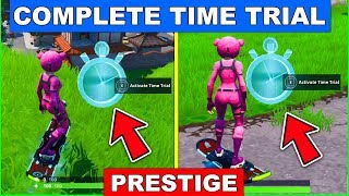 Complete a Time Trial North of Lucky Landing or East of Snobby Shores LOCATION FORTNITE (PRESTIGE)