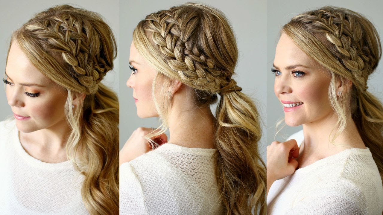 Image result for Double braid ponytail