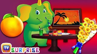 Kids Learn New Objects with Orange Colour Song | ChuChu TV Surprise Learning Eggs