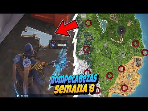 loor for the puzzlepieces under bridges and in caves week 8 season 8 fortnite - piezas de rompecabezas de fortnite temporada 8 mapa