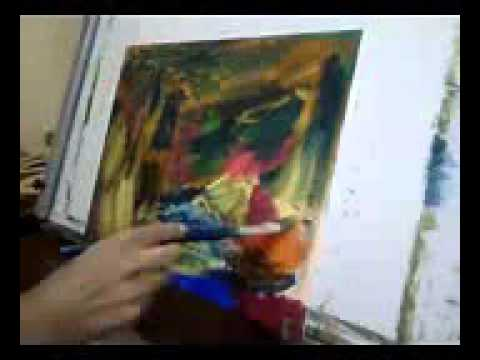 Abstract Speed Painting Art Modern