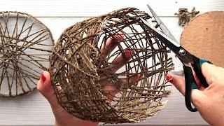 Идея плетеной корзины из джута своими руками | Идея джута