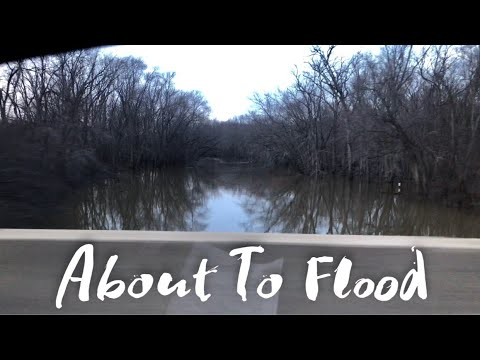 The Des Plaines River in Lake County, Illinois is about to flood
