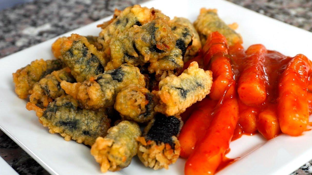 Crispy Seaweed Noodle Rolls Gimmari ʹ€ë§ì´ Youtube