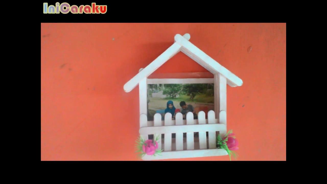 Cara Mmebuat Hiasan Dinding Dari Stik Es Krim Inicaraku Youtube