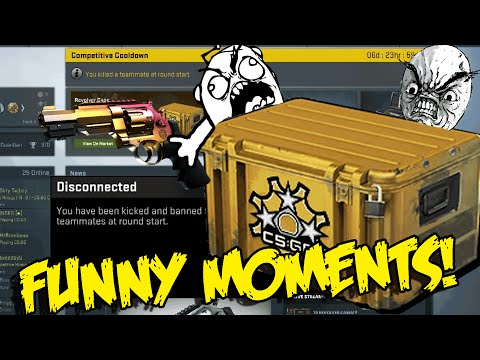 CS GO FUNNY MOMENTS - REVOLVER CASE UNBOXING ,RAGE MONTAGE ,RIP HEADPHONES.EXE (Funny Moments)