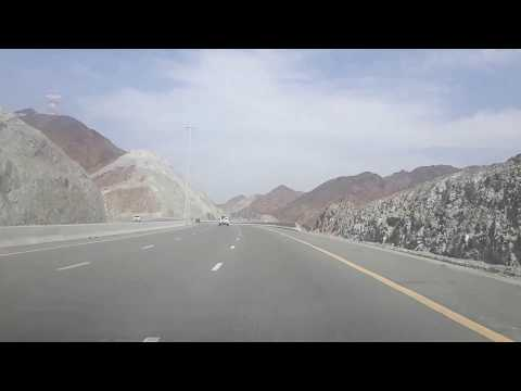 Drive towards Fujairah, Masafi, Khor Fakkan, UAE | Full HD 1080P
