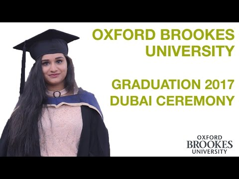Oxford Brookes University Dubai Graduation Ceremony 2017