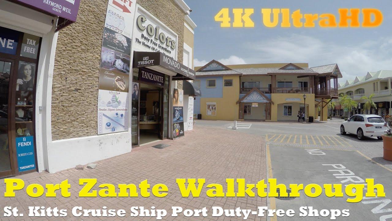 Port zante tour st kitts cruise ship port in 4k ultrahd for Port zante st kitts