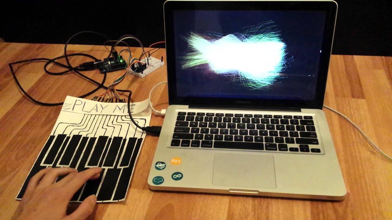 Paper piano visualization youtube