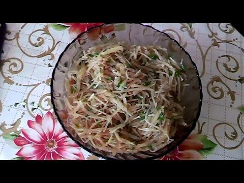 Корейская кухня, Как сделать Салат из КАРТОШКИ