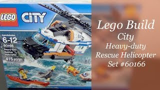 LEGO City Build - Heavy Duty Rescue Helicopter Set #60166