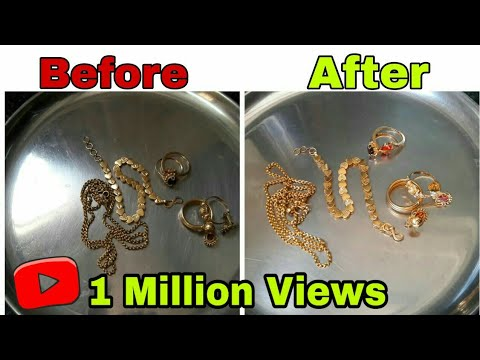 How to clean gold jewellery at home