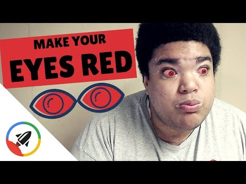 How To Make Your Eye Red   4 PAINLESS Ways!