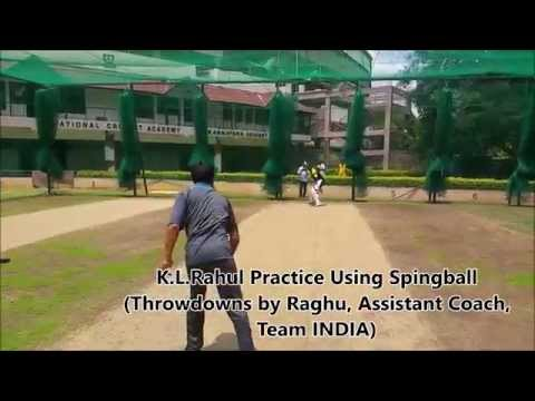 INDIAN Cricket Player K. Lokesh Rahul Using Innovative Spingball