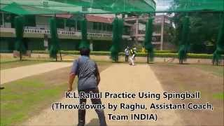 INDIAN Cricket Player K. Lokesh Rahul Using Innovative Spingball
