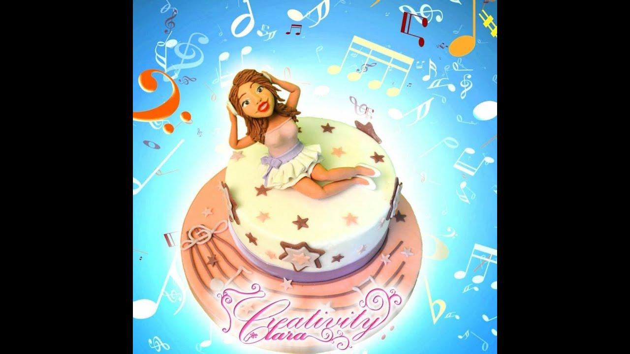 Violetta Cake Tutorial torta decorata in pasta di zucchero ...