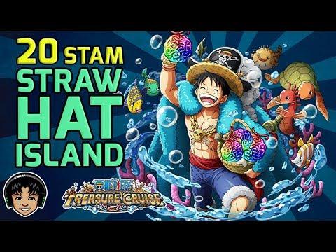Walkthrough for the 20 Stamina Straw Hat Gem Event Island! [One Piece Treasure Cruise]
