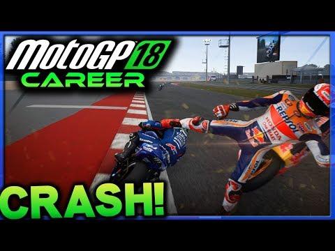 MARQUEZ CRASHES OUT! | MotoGP 18 Career Mode Part 48 (MotoGP 2018 Game PS4)