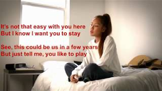 Gambar cover Helplessly Tatiana Manaois - Lyrics Video