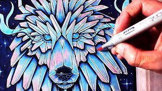 an ice wolf drawing lesson