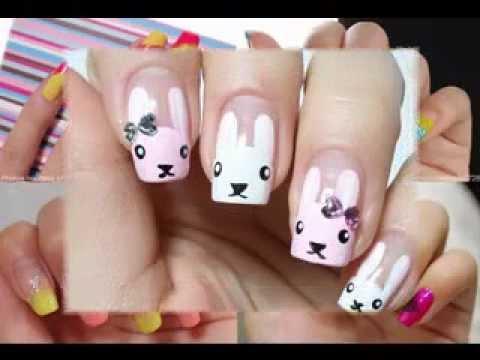 cool korean nail art design ideas