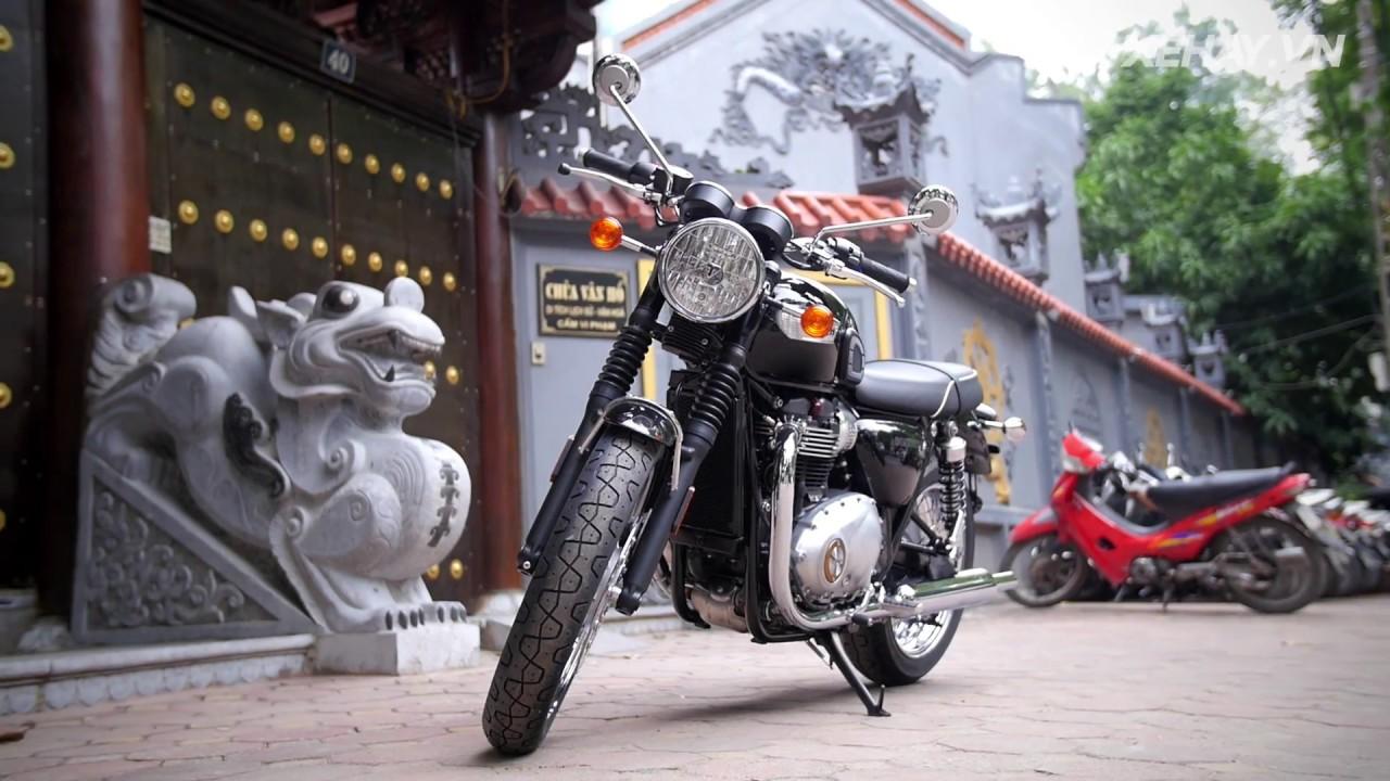 [XEHAY.VN] Triumph Bonneville T100 2017 đẹp lộng lẫy tại Hà Nội