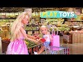 Barbie Doll Supermarket Shopping Chelsea Baby Dolls Play Barbie Girl Grocery Shop toys Play Dolls