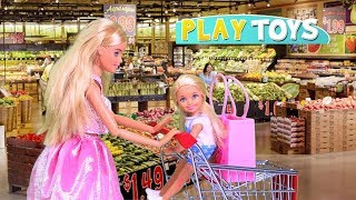 Play Barbie Doll Supermarket Shopping Toys with Baby Doll! 🎀 thumbnail